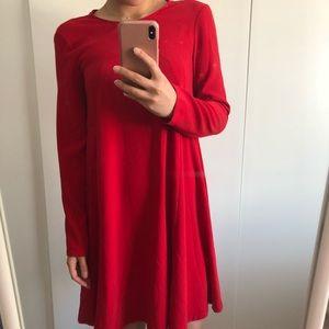 Zara Red Shift Dress